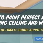 Best way to paint edges between wall and ceiling